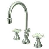 Madison Widespread Bathroom Faucet with Double Porcelain Cross Handles