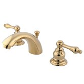 Elizabeth Mini Widespread Bathroom Faucet with Double Lever Handles