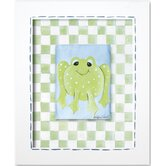Frogs Boy Frog Framed Giclee Wall Art