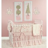 Toile Pink Crib Bedding Collection
