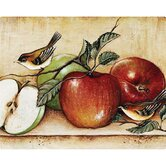 "12"" x 15"" Apples and Warblers Design Cutting Board"