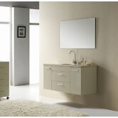 "Carmine 47"" Bathroom Vanity Set in Ivory"