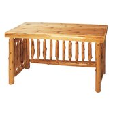 Traditional Cedar Log Standard Desk Office Suite