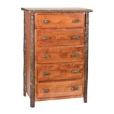 Hickory Five Drawer Chest