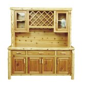 Traditional Cedar Log Hutch