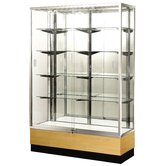 "Streamline 70"" x 15"" Trophy Case with Mirror Back"