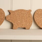 Cork Pig Coaster (Set of 4)