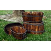 Oval Cedar Barrel (Set of 4)