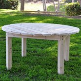 Round Cedar Chat Table