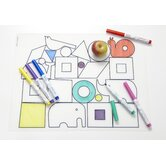 DwellStudio Animal Blocks and Six Dry Erase Markers Kidz Box