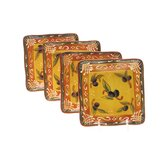 French Olives Canape Plate (Set of 4)