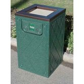Ashtray / Trash Receptacle Diamond Pattern