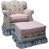 Blossoms and Bows Adult Empire Glider Rocker and Ottoman