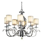 Jardine 8 Light Oval Chandelier