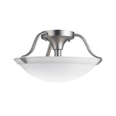 7.5&quot; 2 Light Semi Flush Mount