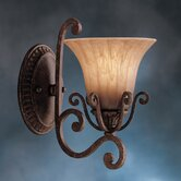 Cottage Grove  Wall Sconce in Carre Bronze with Optional Tear Drops