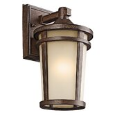 Atwood  Outdoor Wall Lantern in Brown Stone