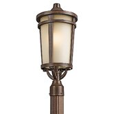 Atwood  Outdoor Post Lantern in Brown Stone