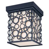 Aqua  Flush Mount Lantern in French Iron