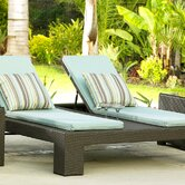 Melrose Double Adjustable Chaise Lounge with Cushions
