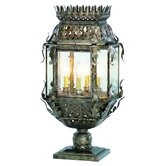 "Montrachet 13"" Four Light Post Lantern Set in Montrachet Bronze"