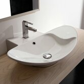 Zefiro 70/R Mensola Wall Mounted or Above Counter Bathroom Sink in White