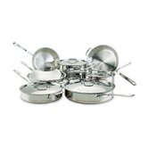 Copper-Core 5-Ply 14-Piece Cookware Set