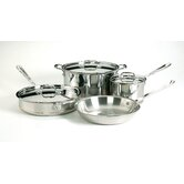 Copper-Core 5-Ply 7-Piece Cookware Set
