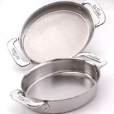 Specialties Stainless Steel Oval Baker (Set of 2)