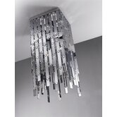 Glitter 1 Light Semi Flush Mount