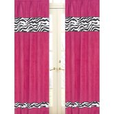 Zebra Pink Collection Window Panels