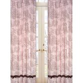 Pink and Brown Toile Collection Window Panels