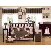 Soho Pink and Brown Crib Bedding Collection