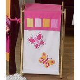 Butterfly Pink Orange Laundry Hamper