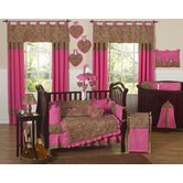 Cheetah Pink Collection 9pc Crib Bedding Set