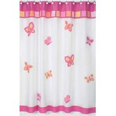 Butterfly Pink and Orange Shower Curtain