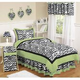 Zebra Lime Collection 3pc Full/Queen Bedding Set