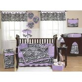 Purple Funky Zebra Crib Bedding Collection