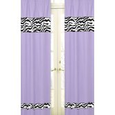 Zebra Purple Collection Window Panels
