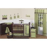 Green and Brown Hotel Baby 9 Piece Crib Bedding Set