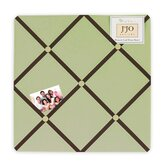 Green and Brown Hotel Fabric Memo Board