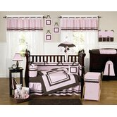 Hotel Pink and Brown Collection 9pc Crib Bedding Set