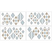 Argyle Blue Cocoa Collection Wall Decal Stickers