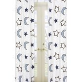 Starry Night Collection Window Panels  - Stars and Moons Print