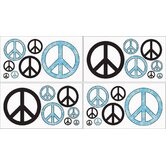 Peace Blue Collection Wall Decal Stickers