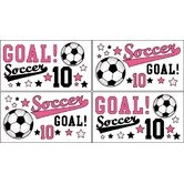 Soccer Pink Collection Wall Decal Stickers