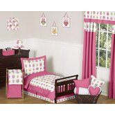 Owl Pink Collection 5pc Toddler Bedding Set