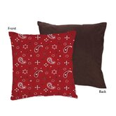 Wild West Cowboy Collection Decorative Pillow  - Bandana Print