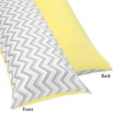 Zig Zag Yellow and Gray Collection Body Pillow Case
