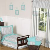 Zig Zag Turquoise and Gray Window Treatment Collection